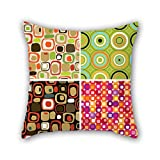 PILLO pillowcase of color block,for teens,wife,dance room,teens,kids boys,bedroom 18 x 18 inches / 45 by 45 cm(double sides)