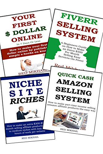 4 in 1 START A NEW HOME BASED BUSINESS FOR FULL TIME INCOME BUNDLE: Niche Site - Fiverr - Amazon Affiliate - Your First Dollar via Kindle Publshing