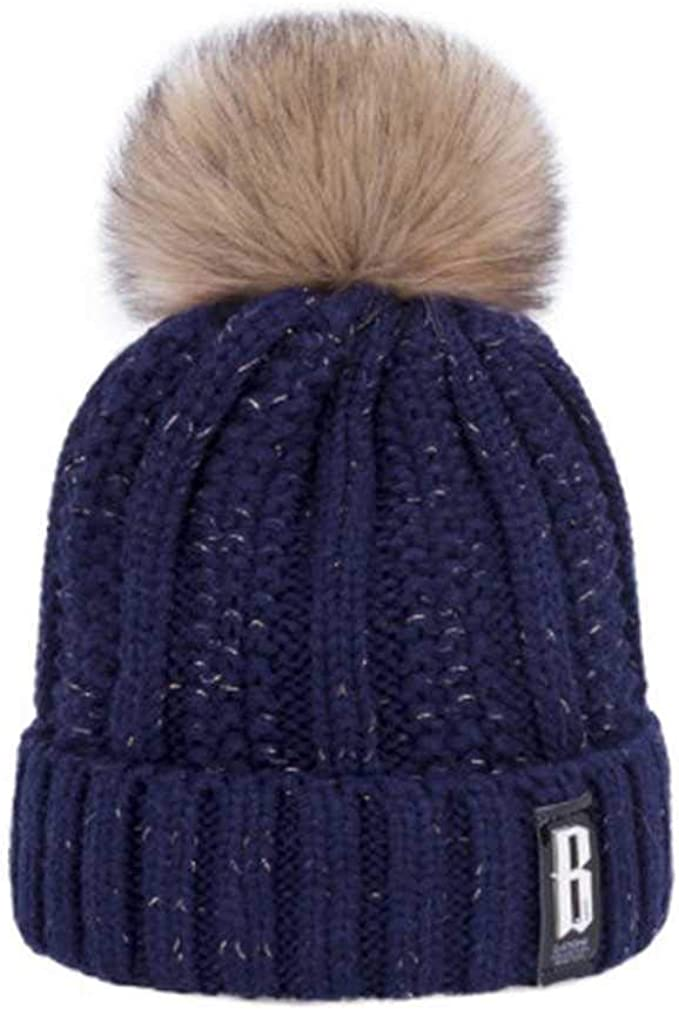 MCSZG Pompones Sombrero de Invierno para Mujer Moda Sombreros ...