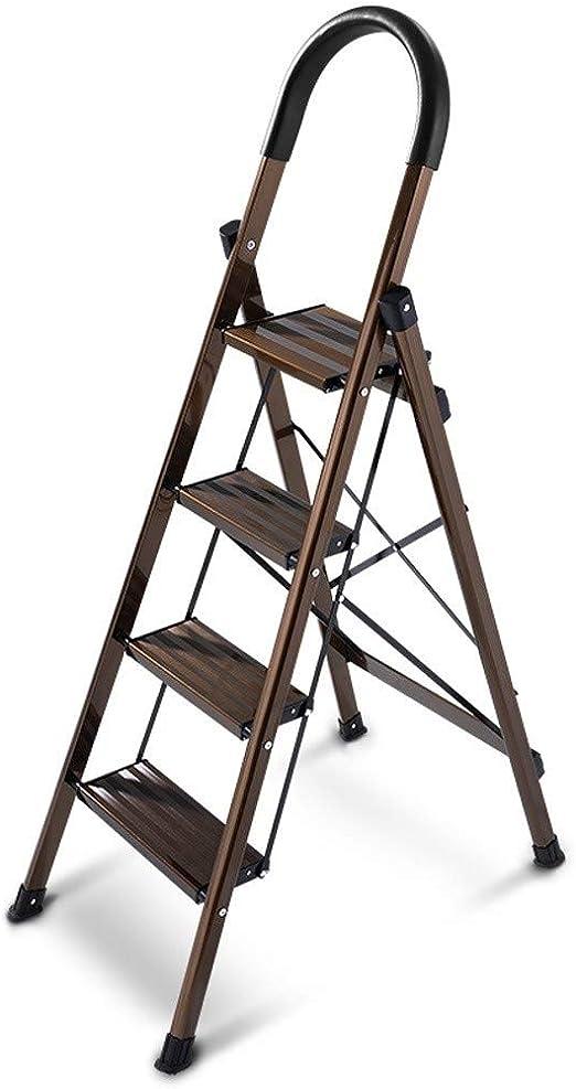 CML Home Escaleras de Interior casero Escalera Exterior Espesar de Aluminio Plegable de Goma Antideslizante de múltiples Funciones del hogar escaleras, Negro: Amazon.es: Hogar