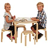ECR4Kids Bentwood Table and Stool Set for