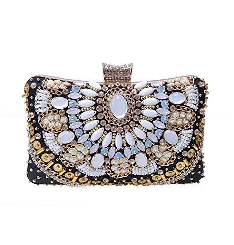 Europa y los Estados Unidos de moda de lujo paquete la noche cena Diamante artesanales Bolsos Bolso B