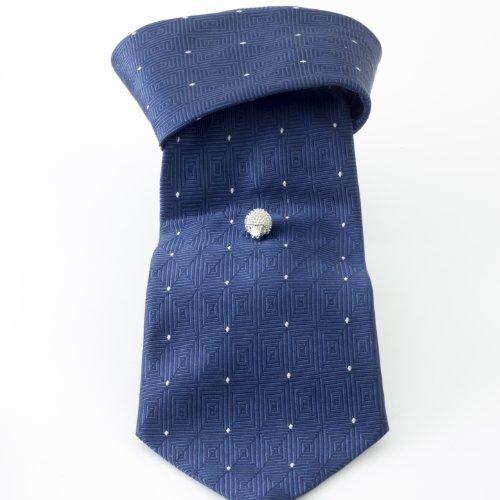 Tateossian Men's Rhodium Plated Red Swarovski Hedgehog Tie Pin by Tateossian (Image #4)