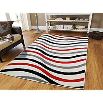 luxury wavy pattern 2x3 area rugs red black grey white entrance rug washable 2x4 foyer rugs