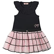 Juicy Couture Baby Girls Casual Dress, Black/Pink, 12M
