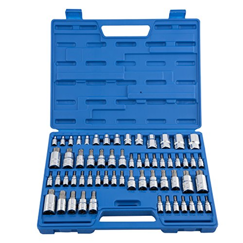 Neiko 10083A Master Torx Bit Socket and External Torx Socket Set | 60-Piece Set | S2 and Cr-V Steel