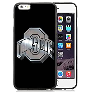 New Fashion Custom Designed Cover Case For iPhone 6 Plus 5.5 Inch Phone Case With Ncaa Big Ten Conference Football Ohio State Buckeyes 13 Protective Cell Phone TPU Cover Case for Iphone 6 Plus Generation 5.5 Inch Black