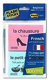 """FlashSticks Französisch lernen , Level 1 """"Beginner"""", Post-it (rosa und blau)"""
