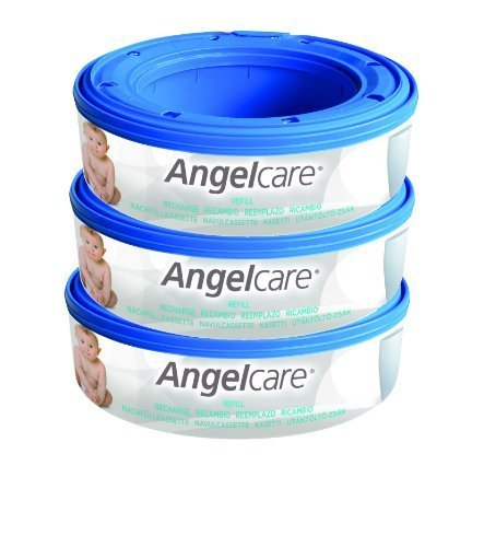 Angelcare Nappy Disposal System Refill Cassettes (Pack of 3) by Angelcare