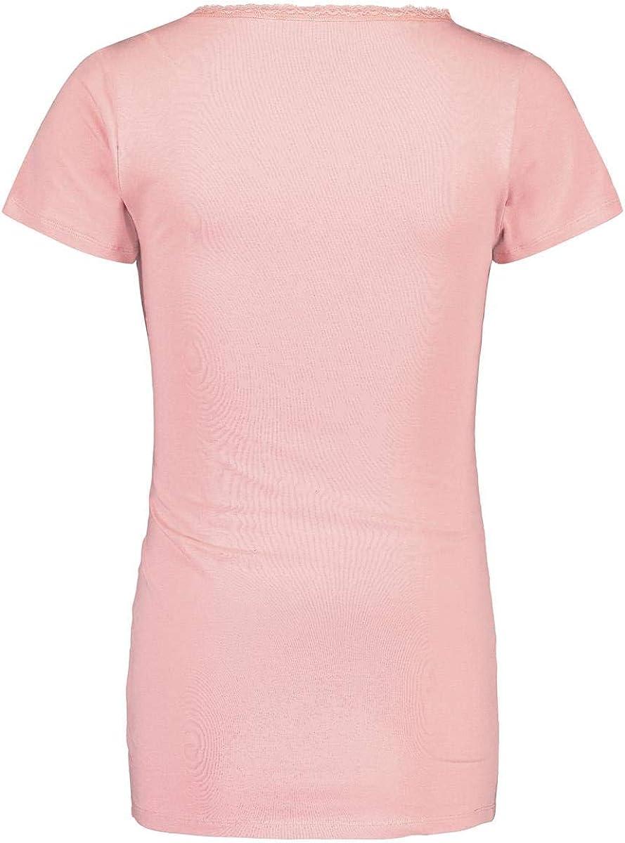 Hose Pyjama Nachtw/äsche Noppies Schlafanzug GOTS-Zertifikat Nursing Set Umstandsschlafanzug Sleep Shirt