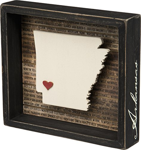 Primitives By Kathy Box Sign - Arkansas State (State Themed Gifts)