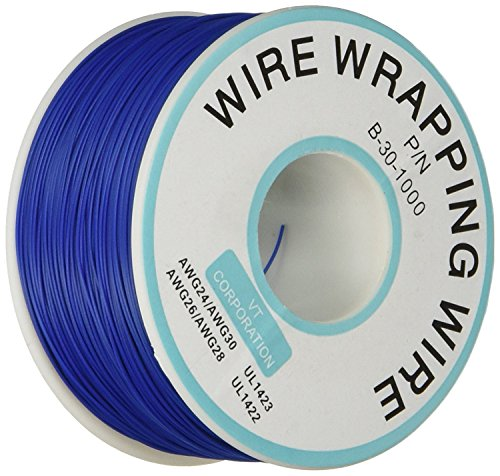 Breadboard P/N B-30-1000 Tin Plated Copper Wire Wrapping 30AWG Cable 305M Blue