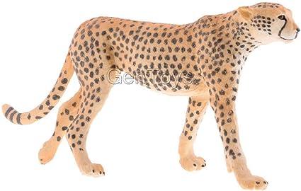 Realistic Animal Model Figurine Figures Kids Educational Toy Gift Cheetah