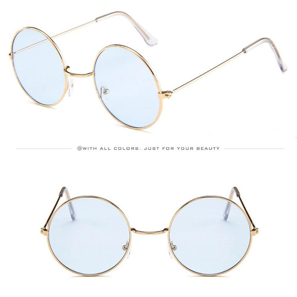 AMOFINY Fashion Glasses Women Men Vintage Retro Unisex Fashion Circle Frame Sunglasses Eyewear by AMOFINY-Fashion Sunglasses (Image #4)