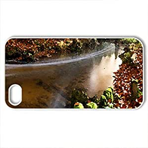 Autumn flow - Case Cover for iPhone 4 and 4s (Rivers Series, Watercolor style, White)