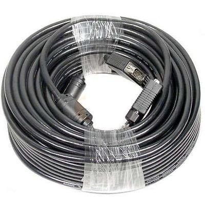 100 FT HD15 Male to Male VGA TV Monitor Projector Cable for PC Laptop 100 Feet