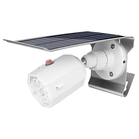 Uonlytech Cámaras de vigilancia de simulación con energía Solar Lámpara LED Sensor Garden Yard (Blanco