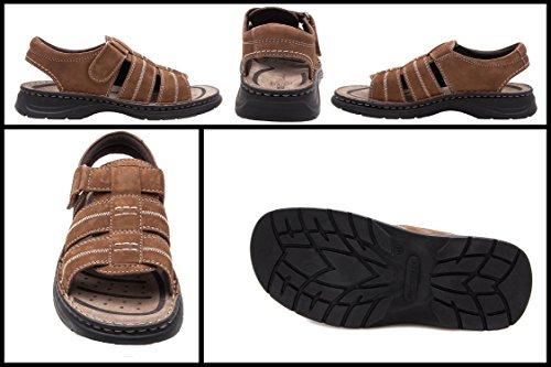 Randonnée Homme Sandales d'été Sandales Hommes Sandales de Moka Trekking en Cuir clair Hommes Sandales Zerimar Sandales Hommes Hommes w800Z