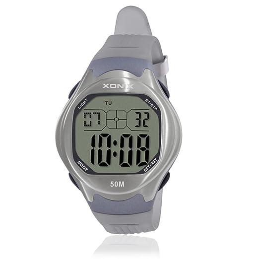 HombresS reloj impermeable natación led estudiantes adolescentes reloj electrónico-H