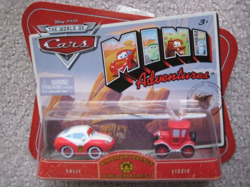 Cars Mini Adventures Radiator Springs Fire Department Sally and Lizzie