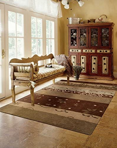 Nourison Contour Multicolor Rectangle Area Rug, 8-Feet by 10-Feet 6-Inches 8 x 10 6