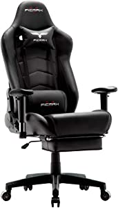 Ficmax Ergonomic Gaming Chair with Footrest Reclining Home Office Chair