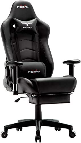 Ficmax Ergonomic Gaming Chair Massage Computer Gaming Chair Reclining Racing Office Chair