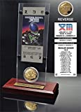 NFL Pittsburgh Steelers Super Bowl 13 Ticket & Game Coin Collection, 12'' x 2'' x 5'', Black