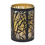 Sterno Home Candle Impressions Indoor/Outdoor Laser Cut Tree Luminary with Programmable Timer