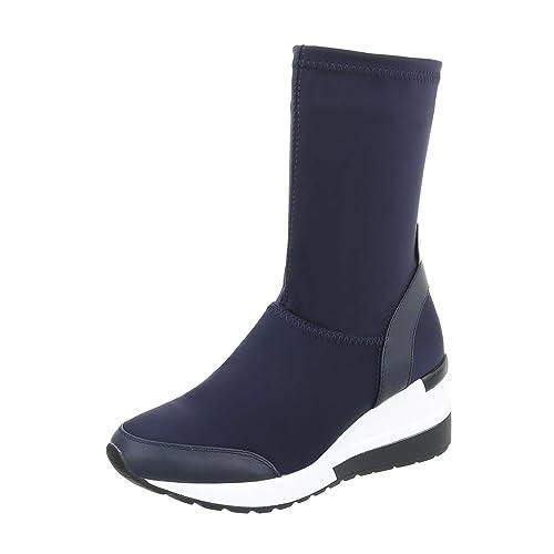 Zapatos para mujer Botas Plataforma Botines de tacon de cuna Azul Tamaño 38: Amazon.es: Zapatos y complementos