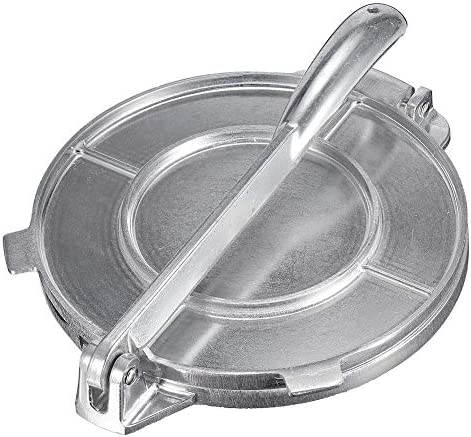 starshop Tortilla Maker Press Pan Heavy Restaurant Comercial Aluminio Tortilla Pie Maker Press Tool (Plata)