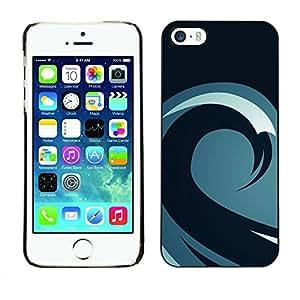 Paccase / SLIM PC / Aliminium Casa Carcasa Funda Case Cover para - Minimalist Wave Pattern - Apple Iphone 5 / 5S