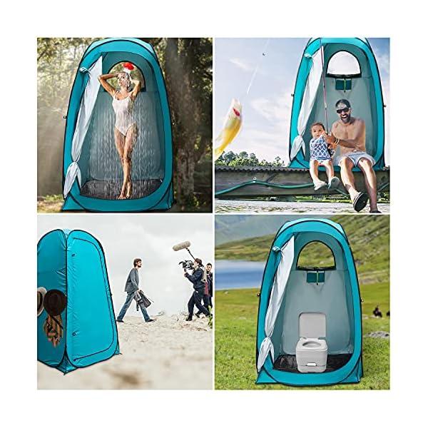 YUANJ Camping Duschzelt, Pop Up Toilettenzelt Wasserdicht Umkleidezelt, Outdoor Privat Mobile WC Zelt für Camping…