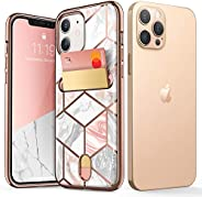 i-Blason Cosmo Wallet Case for iPhone 12, iPhone 12 Pro 6.1 inch (2020 Release), Slim Designer Wallet Protecti