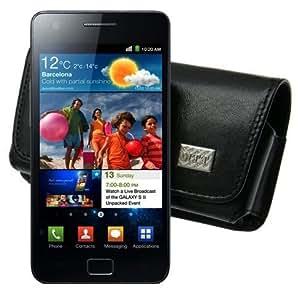 Matiate MTT–Funda horizontal para/Samsung Galaxy R–i9103/Horizontal Funda de piel Funda Funda con guertels chlaufe *