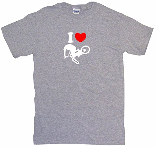 Carbon Snap Fiber Heart (I Heart Love BMX Jumping Guy Logo Little Boy's Kids Tee Shirt 5/6T-Gray)