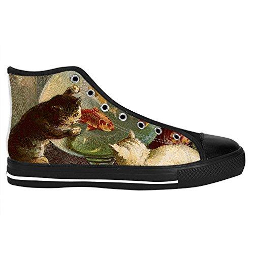 Dalliy kunst katze Mens Canvas shoes Schuhe Lace-up High-top Sneakers Segeltuchschuhe Leinwand-Schuh-Turnschuhe B