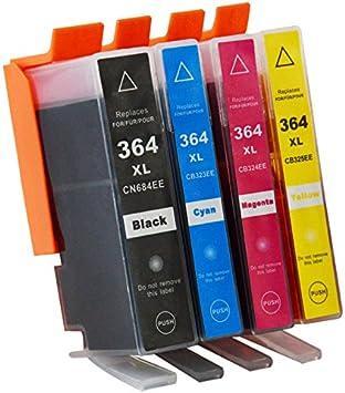 AXARTONER HP 364XL MULTIPACK 4 CARTUCHOS DE TINTA GENERICO: Amazon ...