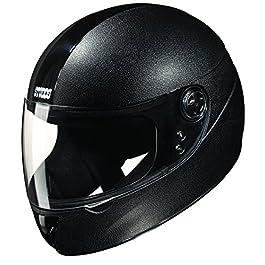 Studds Chrome Elite SUS_CEFFH_BLKL Full Face Helmet (Black, L)