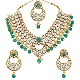 Product review for MUCH-MORE Indian Traditional Kundan Necklace Pearl & Colored Beads Bollywood Style Set