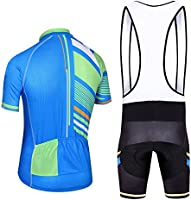 5b3853b39 FidgetFidget Jersey Blue Stripes and (Bib) Shorts Men s Cycling Kit Cycling  Team Clothing XL