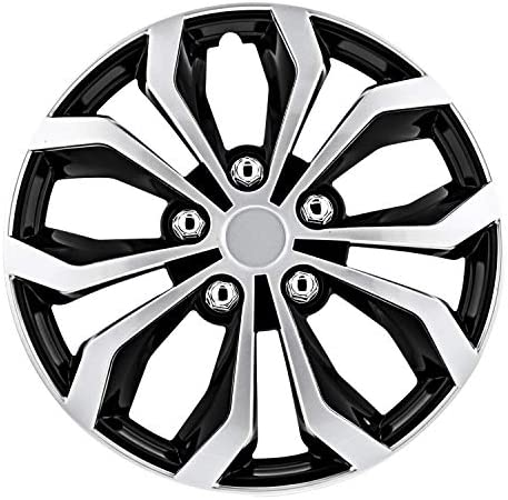 Pilot Automotive WH553-15S-BS Black/Silver 15 Inch 15″ Spyder Performance Wheel Cover | Pack of 4 | Fits Toyota Volkswagen VW Chevy Chevrolet Honda Mazda Dodge Ford and Others
