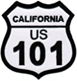 California Highway 101 Embroidered Patch Interstate Iron-On Highway Road Sign Biker Emblem