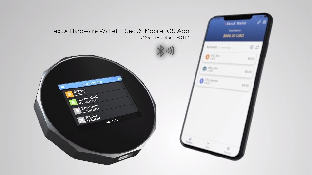 SecuX V20 - Crypto Bitcoin Wallet - Mobile-Ready Bluetooth Wallet w/USB - Protect and Manage Your Crypto - Support Bitcoin, Ethereum, ERC-20, Ripple, LTC, BCH, DGB, Dash, BNB, Doge, XLM and More