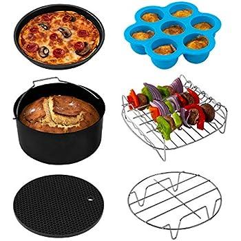 COSORI Air Fryer Accessories XL (C158-6AC), Set of 6 Fit all 5.3Qt, 5.8Qt, 6Qt Air Fryer, FDA Compliant, BPA Free, Dishwasher Safe, Nonstick Coating