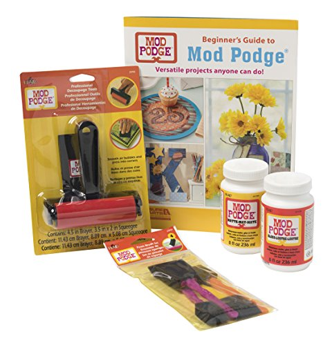 Mod Podge PROMOMPBEG Beginner Paper Craft Kit, 8 oz - Mod Podge Decoupage