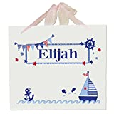 Personalized Boys Sailboat Wall Hanger