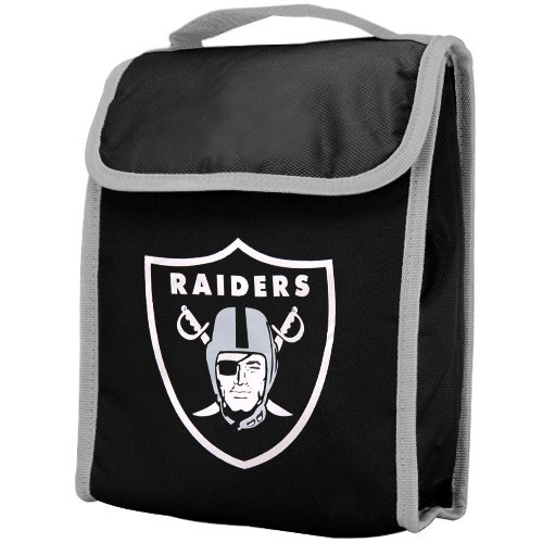 NFL Oakland Raiders Big Logo Velcro Lunch Bag, Black by Forever Collectibles