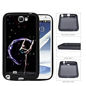 Ballerina Performance With Galaxy Theme Rubber Silicone TPU Cell Phone Case Samsung Galaxy Note 2 II N7100