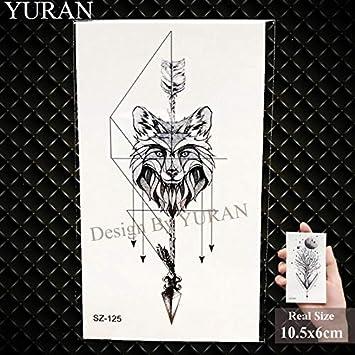 Bricolaje falso geométrico triángulo tatuaje mujeres Hip Hop ...